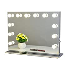 Chende Frameless Hollywood Tabletops Lighted Makeup Vanity Mirror with Dimmer (8065, Frameless)