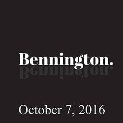 Bennington, October 7, 2016