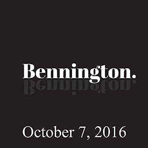 Bennington, October 7, 2016 Radio/TV Program