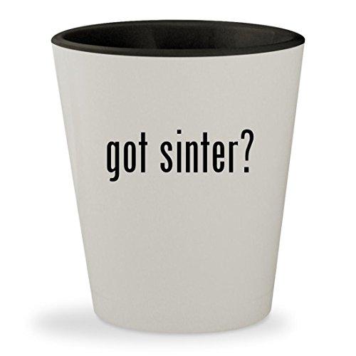 Fuel Filter Stone (got sinter? - White Outer & Black Inner Ceramic 1.5oz Shot Glass)