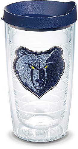 Tervis 1309509 NBA Memphis Grizzlies Primary Logo Insulated Tumbler with Emblem and Navy Lid 16oz Clear ()