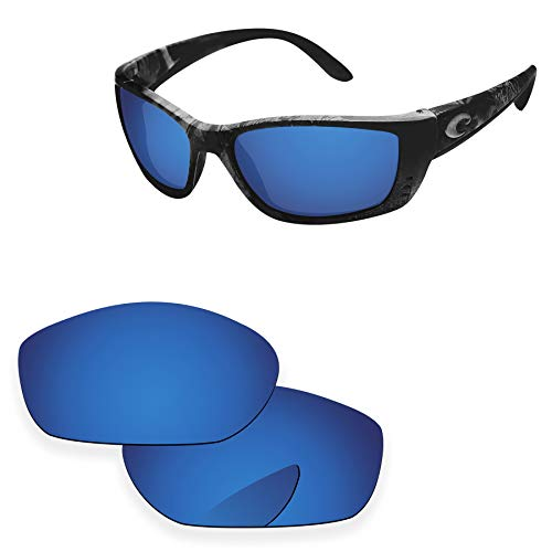 PapaViva Lenses Replacement for Costa Del Mar Fisch Deep Water - Polarized (Fisch Replacement Lenses)