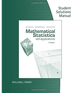 Amazon mathematical statistics with applications 9780495110811 student solution manual for mathematical statistics with application fandeluxe Image collections