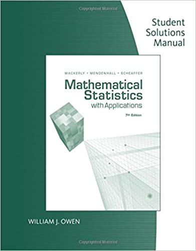 Book Mathematical Statistics with Applications: Student Solutions Manual