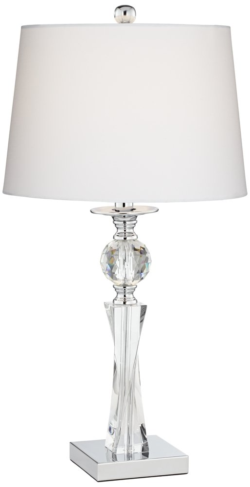 Julian crystal twist column table lamp amazon aloadofball Gallery