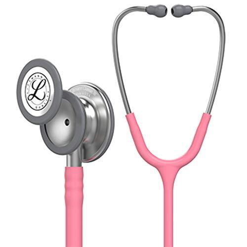(3M Littmann  Classic III Monitoring Stethoscope, Pearl Pink Tube, 27 inch, 5633)