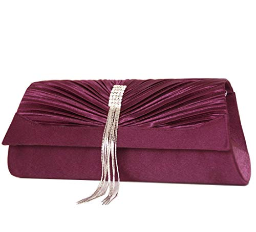 Pochettes bag sac Mod de soirée formel purple by Satin fashion Clutch 2100 STSrq