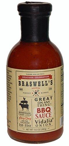 Braswell Sauce Barbeque Vidalia Onion, 13.5 oz Vidalia Onion Bbq Sauce