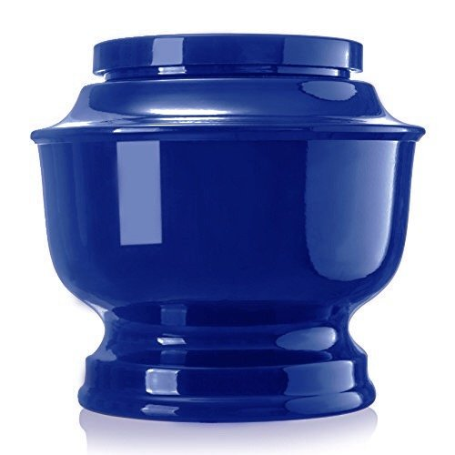 - SmartChoice Classic Funeral Cremation Urn for human Ashes a Variety of Colors available Adult Urn with velvet bag (Blue)