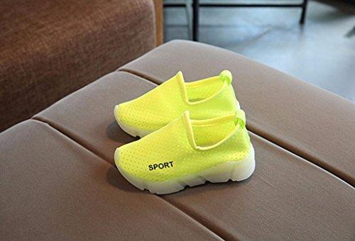 JIANGFU Kinder Blinkende Licht Sportschuhe LED-Leuchten, Kinder Kinder Soild Jungen Mädchen LED Leuchten Leuchtende Turnschuhe Schuhe Green