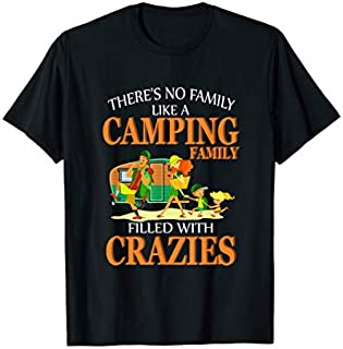 Cool gift There's No Family Like A Camping Family  Camping Tees Women Long Sleeve Funny Shirt