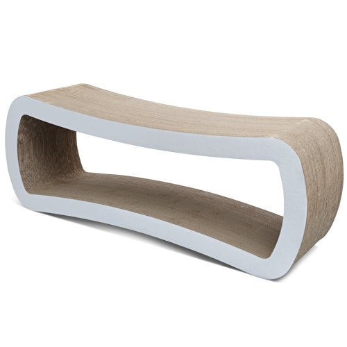 PetFusion Jumbo Cat Scratcher Lounge (White).  [Superior Cardboard & Construction, significantly outlasts cheaper alternatives]