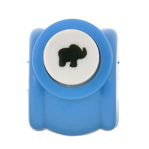 Floralby 1Pc Mini Scrapbook Punch Handmade Hole Punch Toy Cutter Printing DIY Paper Tool size Elephant