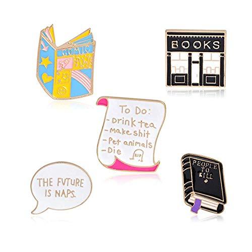 MJartoria 9-50PCS Car Flamingo Alpaca Novelty Cartoon Cute Enamel Brooch Pins for Backpacks Set