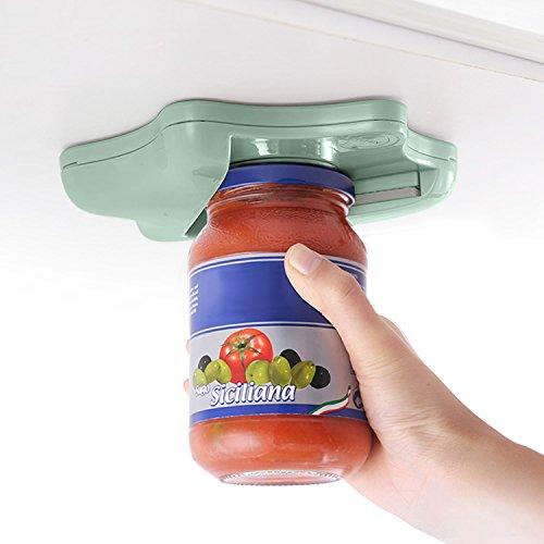 SAVORLIVING Ouvre Bocal et Bouteille Universel Plastique Sous Ouvre-bouteilles, Star-Shaped Jar Opener Lid Remover(Vert)
