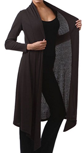 Funfash Plus Size Women Black Kimono Long Cardigan Duster Sweater Made in USA (Empire Waist Maternity Cardigan)