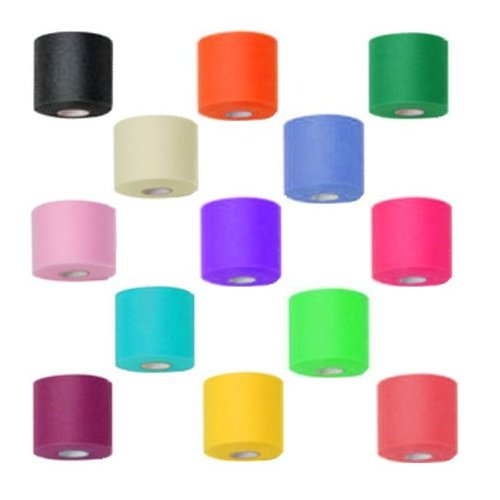 Mixed Colors Bulk Prewrap for Athletic Tape - 48 Rolls, Rainbow