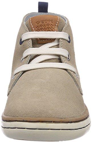 Geox JR GARCIA BOY C - zapatillas deportivas altas de cuero niño beige - Beige (SANDC5004)