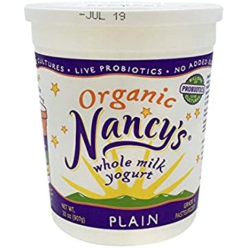 best selling Expect More Nancy's Organic Plain Whole Milk Yogurt 32 oz pack of 6