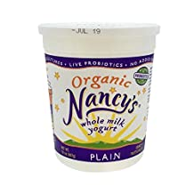 Expect More Nancy's Organic Plain Whole Milk Yogurt 32 oz pack of 6