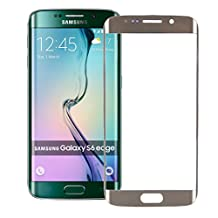 S6 Edge Screen Protector - Universal Buying(TM) Samsung Galaxy S6 Edge Tempered Glass [Curved Full Coverage Tempered Glass Screen Protector] [Ultra Thin 0.33mm Thickness] - GOLD