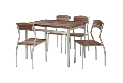 Abington Lane 5-Piece Dining Table Set with 4 Chairs - Modern and Sleek Dinette (Cedarwood - Dinette Set Outdoor