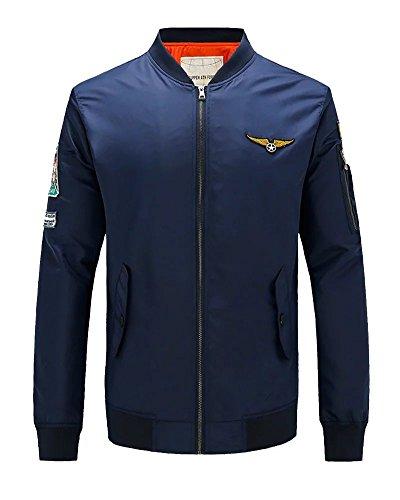 Kmety Men's Air Force One Sports Jacket Flight Suit Corduroy Long Sleeved Shirt