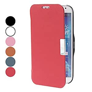 Solid Color PU Leather Full Body Case for Samsung Galaxy S4 I9500 (Assorted Colors) , Red