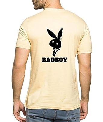 2ebca72fd29 Clifton Men s Back Printed Half Sleeve V-Neck T-Shirt-Bad Boy-B ...