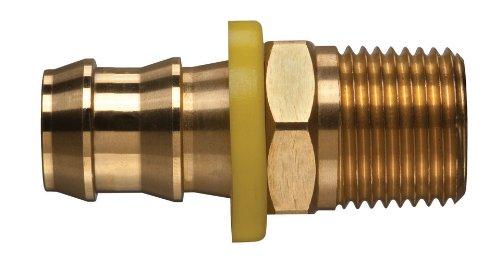 3//4-14 NPTF Male x 5//8 Hose ID 3//4-14 NPTF Male x 5//8 Hose ID Kuriyama of America Inc. Barbed Kuriyama POFMP-1012 Brass Push-on Hose Fitting