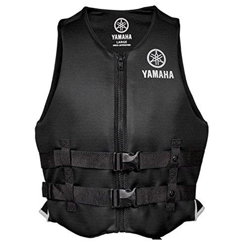 Yamaha Marine New OEM Unisex PFD Neoprene 2 Buckle Life Jacket, 3XL, Black