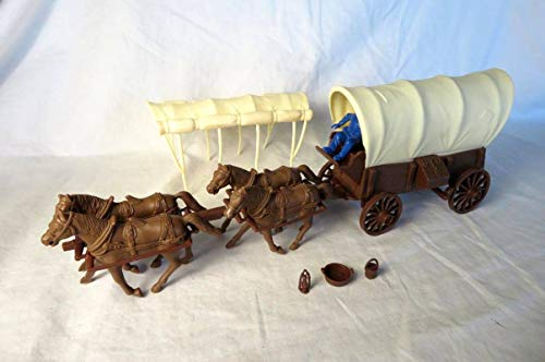 Marx/Classic Toy Soldiers, Inc: Conestoga Covered Wagon, wit