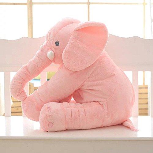 Soft Plush Elephant Sleep Pillow Lumbar Cushion Toys for Baby Kids Children Toddler, Large Pink