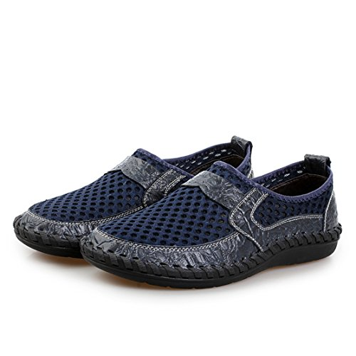 Go Tour Mens Poseidon Slip-On Loafers Water Shoes Casual Walking Shoes Dark Blue NMdQoH