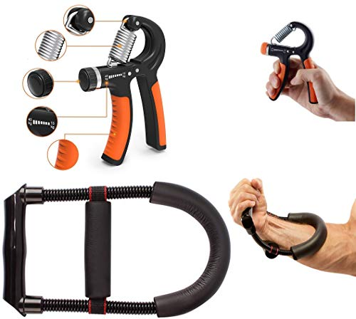 ABHAYA Wrist Exerciser + Hand Grip Exercise Equipment, Forearm Strengthener, Home Gym Combo Price & Reviews