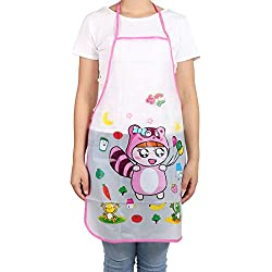 uxcell PVC Cartoon Cat Print Kitchen Restaurant Water Resistant Cooking Bib Apron