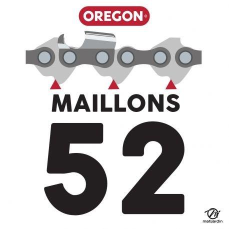 52 maillons Pi/èce neuve Gouge profil demi rond Cha/îne Oregon pour tron/çonneuse 3//8 1,1 mm