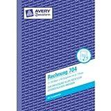 Avery Zweckform Formularbuch 4 Kolonnen-Durchschreibbuch A4 2x50 Blatt Belege