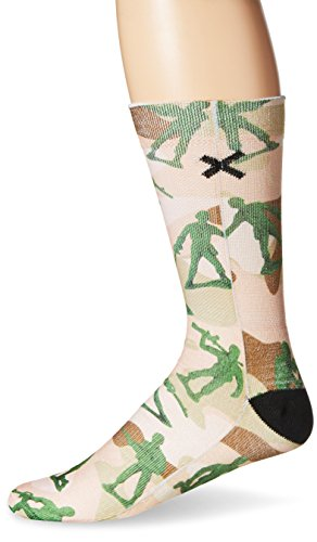 Toy Soldier Stocking - Odd Sox Men's Soldiers, Multi, Sock Size:10-13/Shoe Size: 6-12