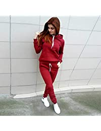 Baynne-CAa2 Jogging Running Sports Suit Women Tracksuit Long Sleeves Hooded Sportswear