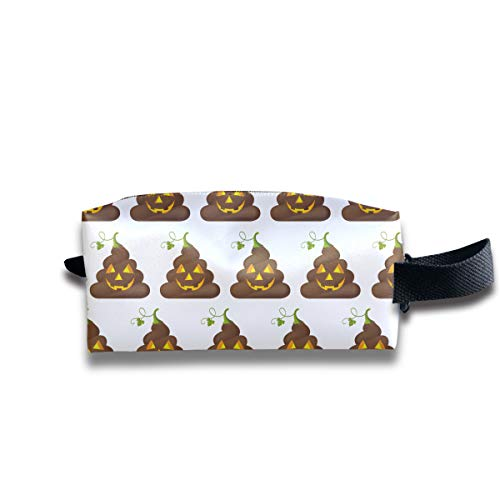 AHOOCUSTOM Halloween Poop Multifuncition Travel Canvas Cosmetic Bag
