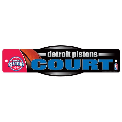 WinCraft NBA Detroit Pistons Sign, 4.5 x 17-Inch by WinCraft