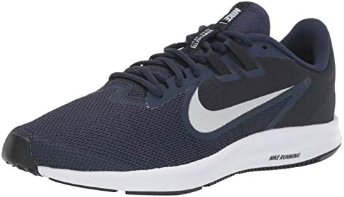 Nike Men s Downshifter 9 Running Shoe, midnight navy pure platinum, 10.5 Regular US
