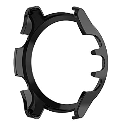 MOTONG Transparent PC Protective Case Cover Shell for Garmin Forerunner 945 and Garmin Forerunner 935, Soft and Durable(PC Black)