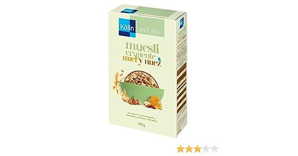 Kölln - Mueslis de avena con miel y frutos secos, 500 gramos [Pack de 3]: Amazon.es: Alimentación y bebidas