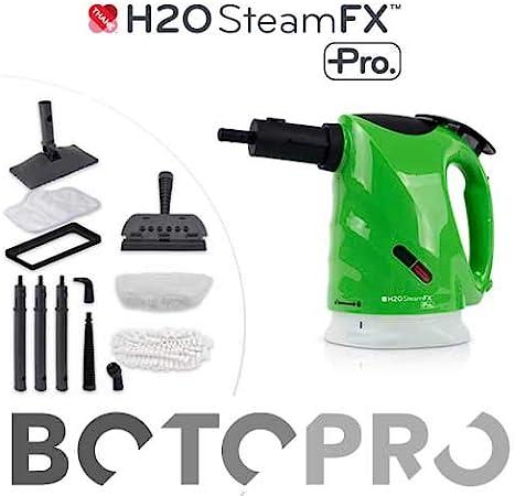 BOTOPRO - H2O Steam FX Pro, vaporeta de Mano Profesional Que Limpia, Quita los Malos olores y desinfecta - Anunciado en TV: Amazon.es: Hogar