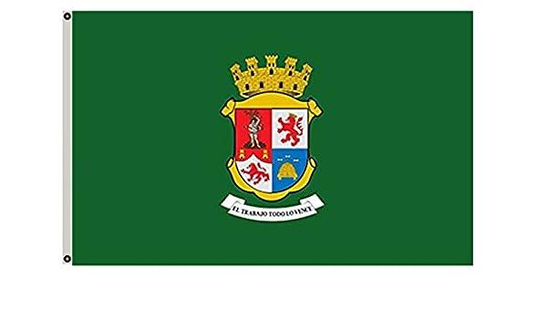 Bandera grande León Guanajuato México Municipio bandera 3 x 5 Banner: Amazon.es: Jardín