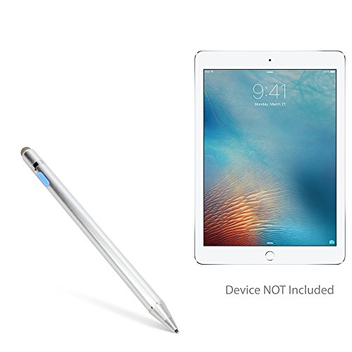 iPad Pro 9.7 Stylus Pen, BoxWave [AccuPoint Active Stylus] Electronic Stylus with Ultra Fine Tip for Apple iPad Pro 9.7 - Metallic Silver by BoxWave