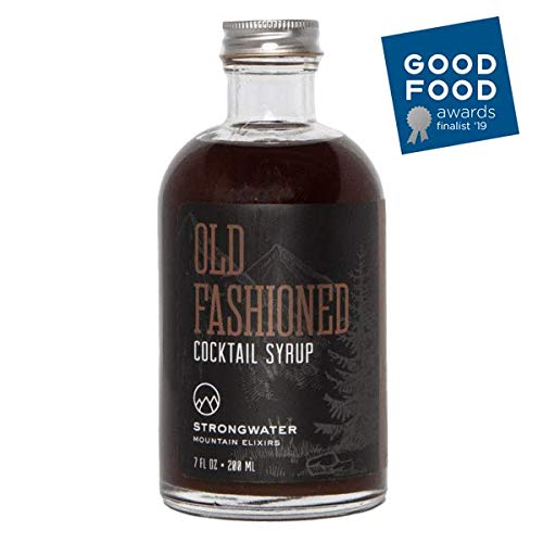 Strongwater - Old Fashioned Cocktail Syrup Drink Mixer | Bitters Blend with Organic Demerara Sugar | 8 oz