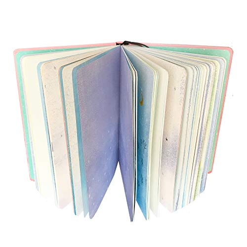 Siixu Colorful Writing Journal Notebook, Hardbound Personal Diary Journals to Write in for Women/Men, No Lines, Gorgeous Design, White, 5 x 7 in, 224 Pages, Lineless -